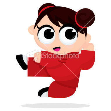 cartoon girl with short brown hair